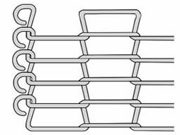 A drawing of flat flex conveyor belt with C-shaped edge.