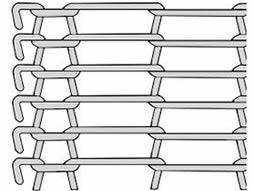 A drawing of flat flex conveyor belt with double loop edge.