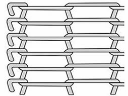 A drawing of flat flex conveyor belt with single loop edge.